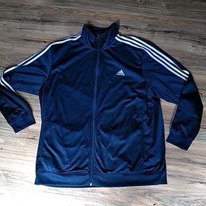 Adidas blue logo jacket